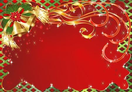 Christmas Greeting Card Background with Bells