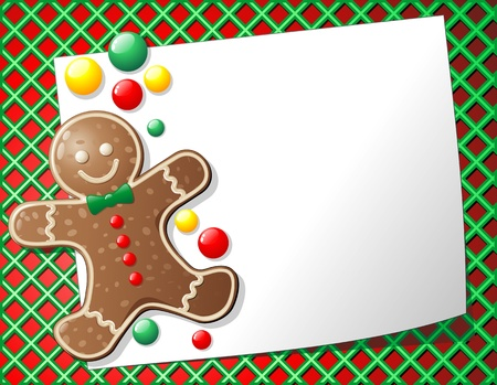 Gingerbread Man Cookie Background Stock Vector - 10884551