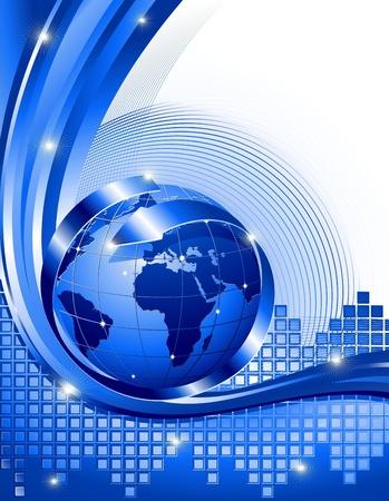 kommunikation: World Business bakgrund