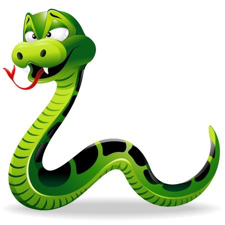 Cartoon drôle de serpent