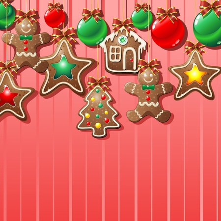 Gingerbread Man Cookie Background Vector