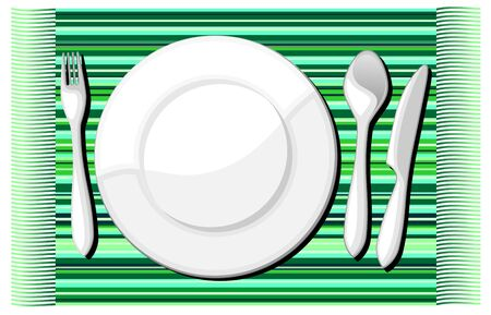 Plate and Cutlery Background Vector