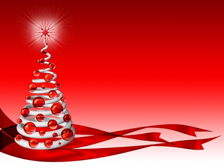 Christmas Abstract Tree Background