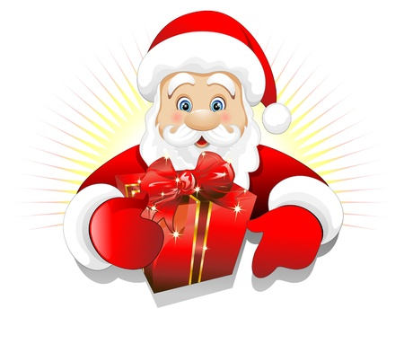 christmas toys: Christmas Santa Claus with Gift Present Background