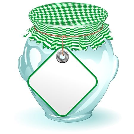 Glass Jar with Label-Food Container Vector