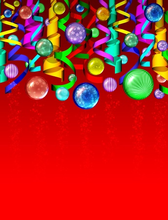 Christmas Colored Ornaments Background Stock Photo - 11137770