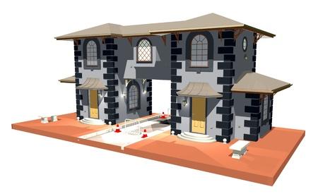 City Gate-Arcade-3D photo