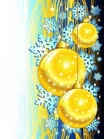 recurrence: Christmas Blue & Golden Ornaments Background