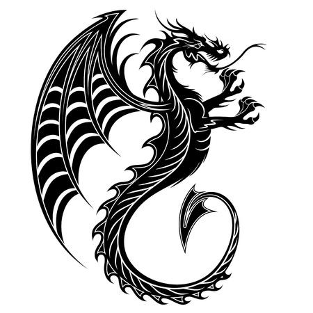 dragon tattoo: Dragon Tattoo Symbol-2012 Illustration