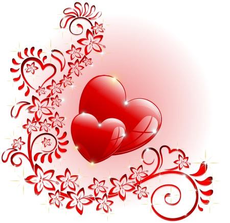 Love Ornamental Ornamental Romantic Hearts