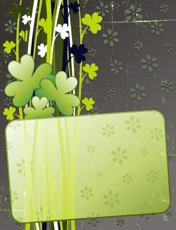 Shamrock St Patrick s Day Grunge Card Vector