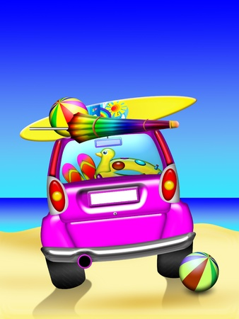 Summer Holidays Car Travel photo