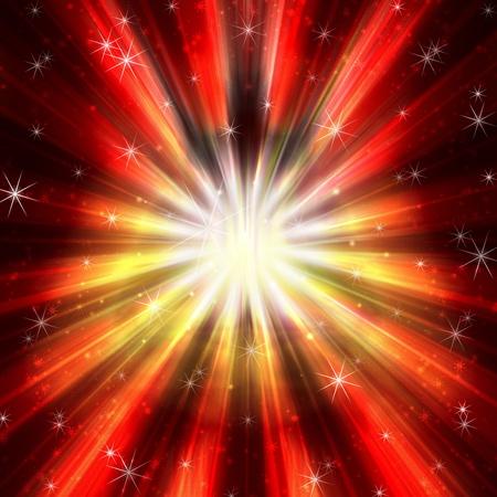 cosmic rays: Cosmic Fire Explosion Stock Photo