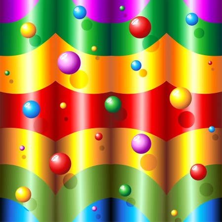 Abstract Rainbow Colors and Bubbles Pattern Vector