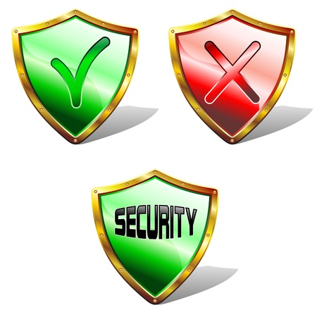 Antivirus software Symbol Icon Shield Buckler Vector