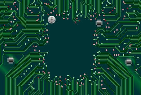 Computer Motherboard Circuit Stock Vector - 14310610