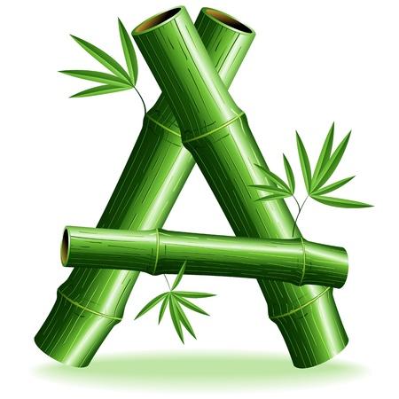 Bamboo Lettera Logo Registrati A