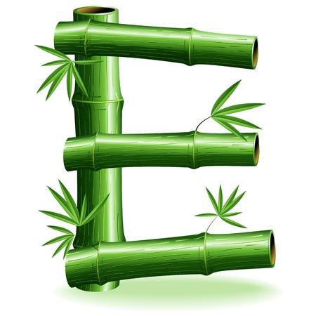 Bamboo Logo Lettera E Sign