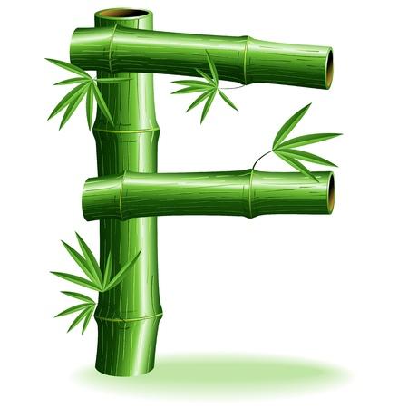 logo letter: Bamboo Logo Letter Sign F