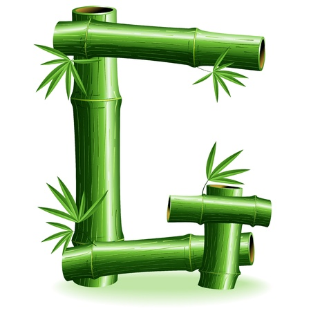 Bamboo Logo Letter Sign G Vector