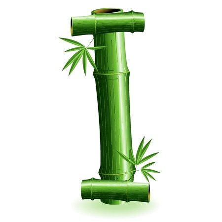 bambu: Carta de bamb� Logo me inscribo Vectores