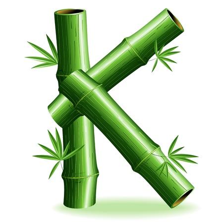 letter k: Bamboo Logo Letter Sign K