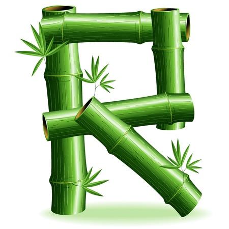 logo letter: Bamboo Logo Letter Sign R