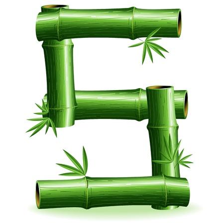 Bamboo Logo Letter Sign S