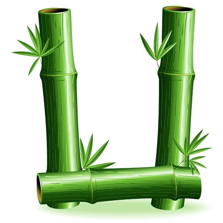 Bamboo Logo signent une lettre U