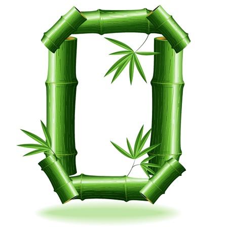 zero: Bamboo Logo Sign Number 0