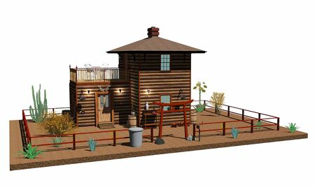 Wooden Ranch-3D Architecture  Stock Photo - 14658438