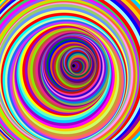 psychedelic background: Hypnotic Psychedelic Virtual Circles