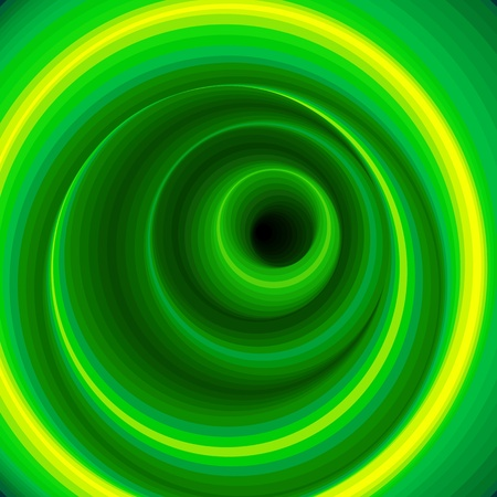 whirlpools: Hypnotic Virtual Green Tunnel Illustration