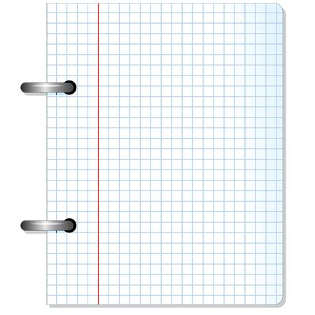 margen: Hoja Squared Notebook Paper Texture Vectores