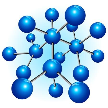 molecula: Estructura mol�cula de part�culas Atom