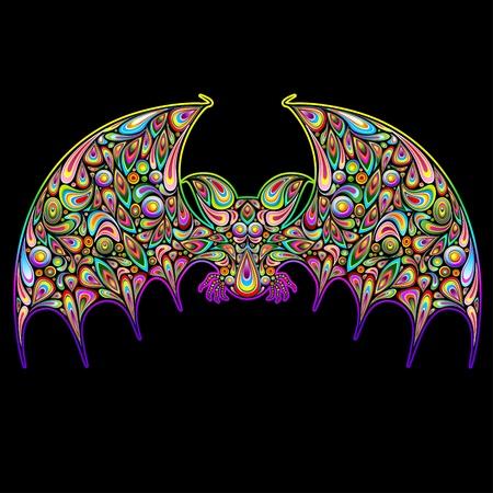 psychedelics: Bat Psychedelic Art Design