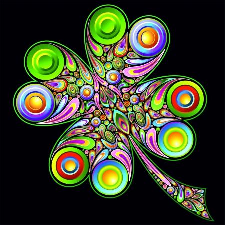 symbolic: Shamrock Clover Psychedelic Design