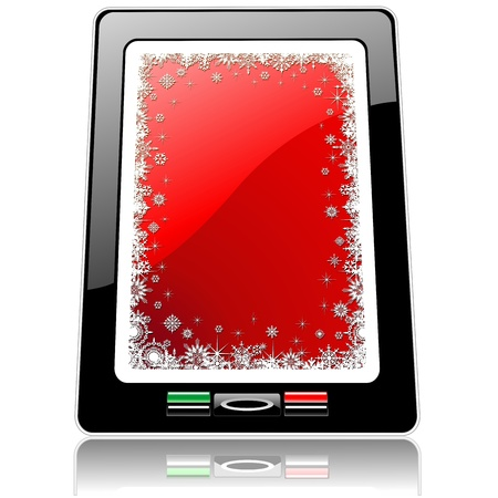 Christmas Gift Tablet Smart Phone Computer Stock Vector - 15992397