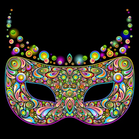 Carnival Party Mask Psychedelic Art Design Stock Vector - 16511386