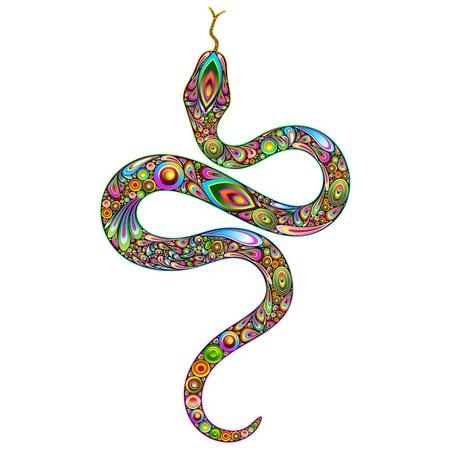 Snake Psychedelic Art Design Stock Vector - 16957573