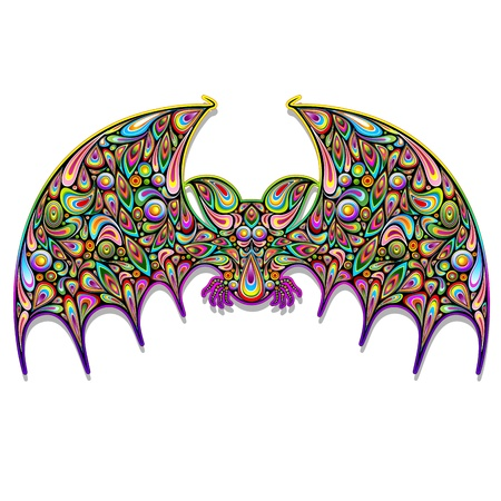 Bat Psychedelic Art Design Stock Vector - 17032547