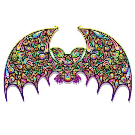 Bat Psychedelic Art Design Stock Vector - 17032547
