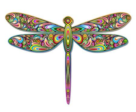 hypnotique: Libellule Psychedelic Art Design