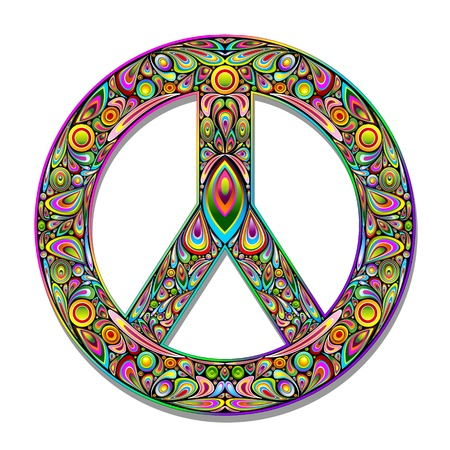 Peace Symbol Psychedelic Art Design Stock Vector - 17045266