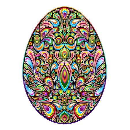 Easter Egg Psychedelic Colors Art Design Stock Vector - 17096974