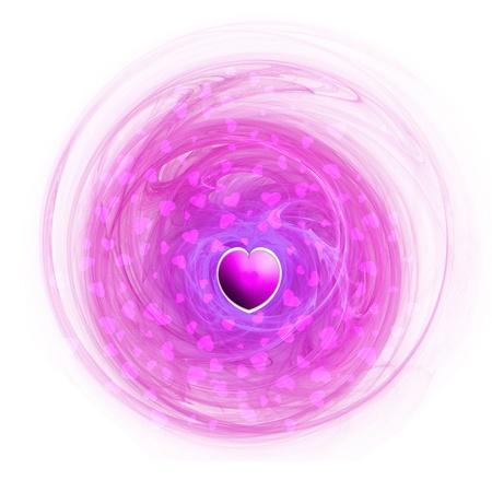 beauty center: Love Heart Pink Abstract Fractal Art