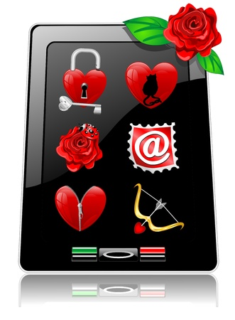 Be my Valentine Tablet Smartphone Stock Vector - 17295334