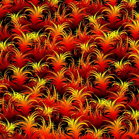 Fire Feather Pattern Texture Stock Vector - 17295332