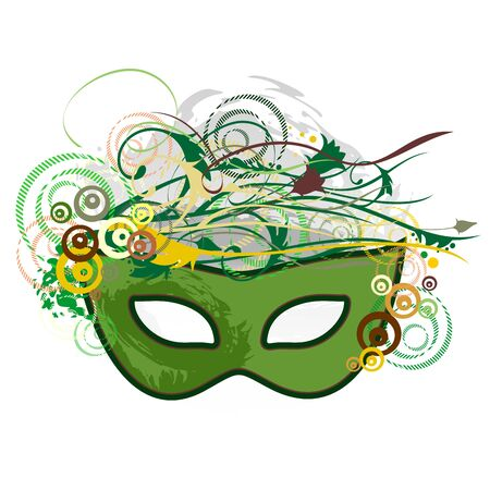 carnival mask: Carnival Purim Festival Mask Pop Art Abstract Nature