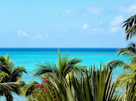 mauritius: Wild Exotic Blue Paradise-Indische Oceaan Zeegezicht in Mauritius Stockfoto